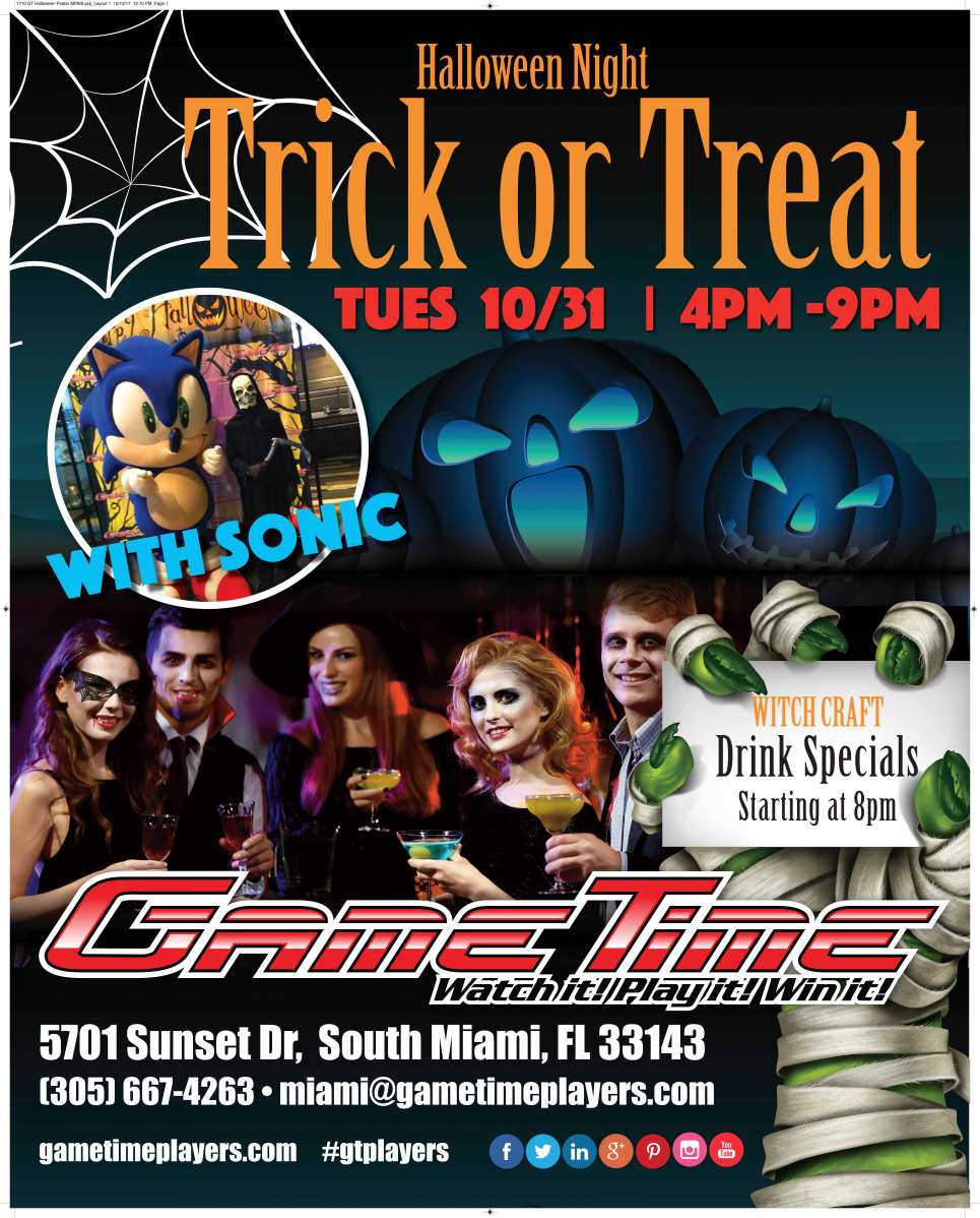 Trick or Treat Halloween at GameTime