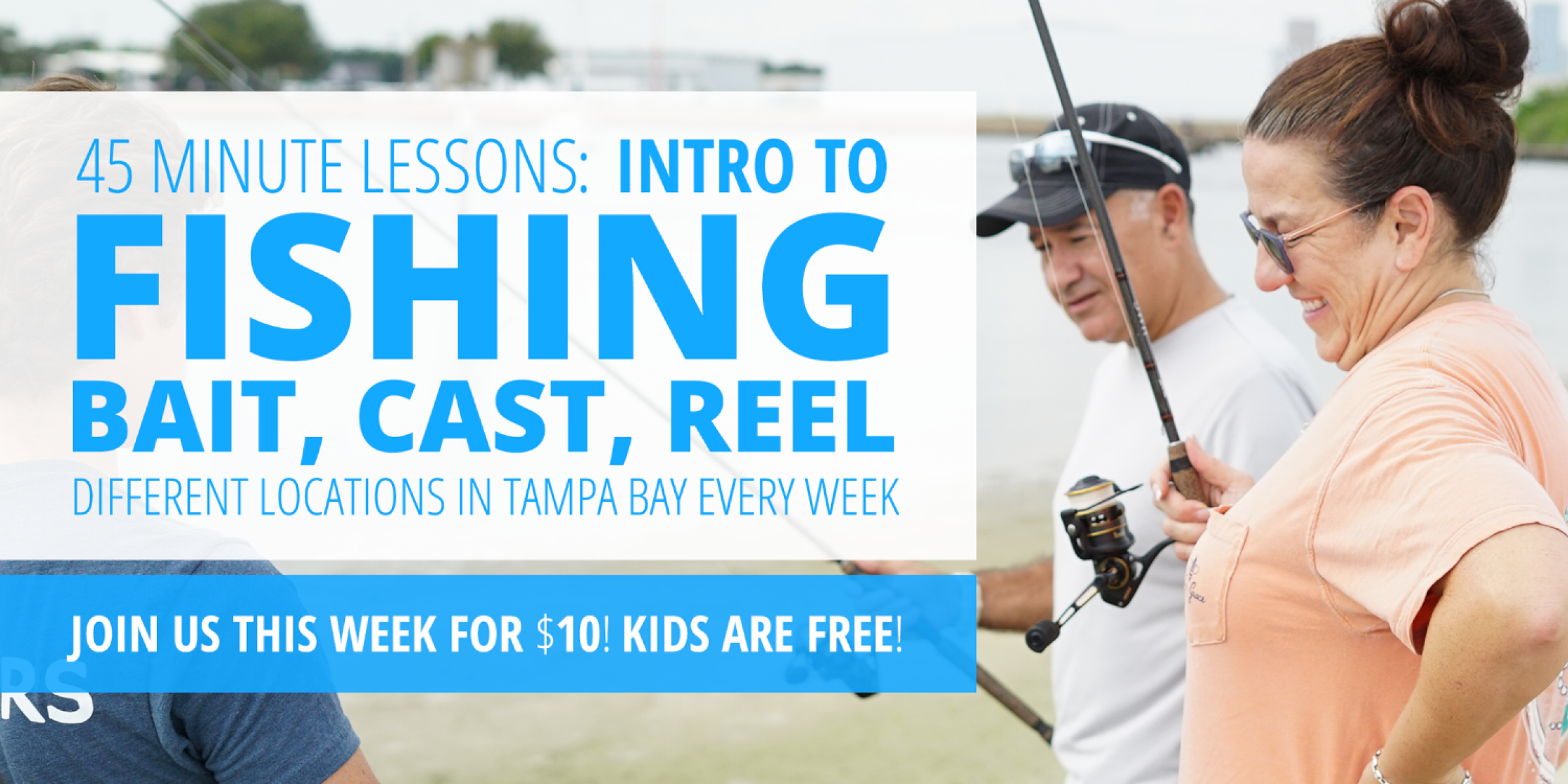 Intro to Fishing (Gulfport): How to Bait, Cast, Reel, and Land A Fish!