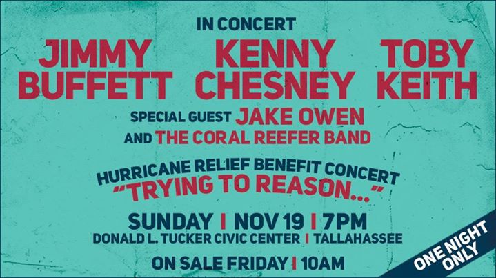 Hurricane Relief Concert -Jimmy Buffett,Kenny Chesney,Toby Keith