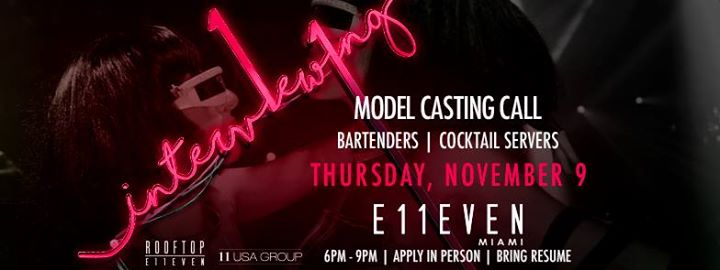 Casting Call: Bartenders & Cocktail Servers