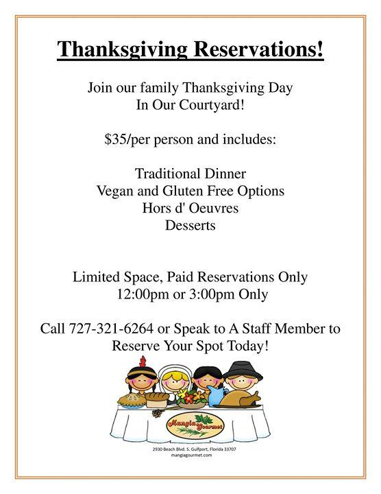 Thanksgiving Day at Mangia Gourmet
