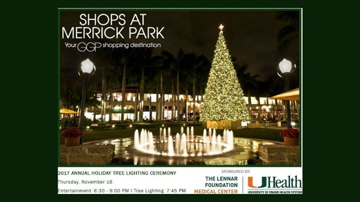 Merrick Park Annual Tree Lighting