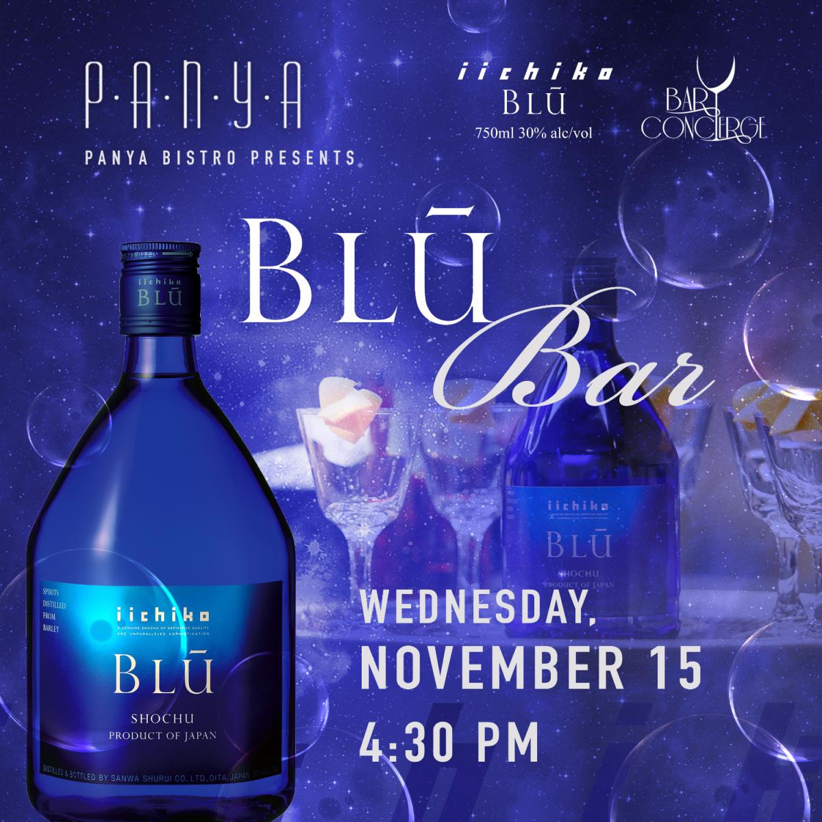 BLU Bar by iichiko BLU at Panya Bistro