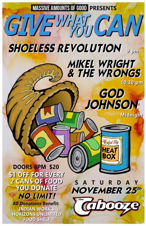 Shoeless Revolution, Mikel Wright & The Wrongs, and God Johnson