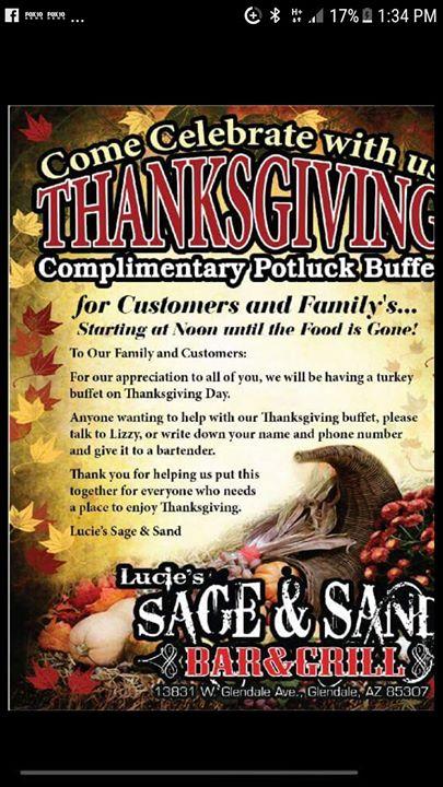 Thanksgiving Potluck Buffet....