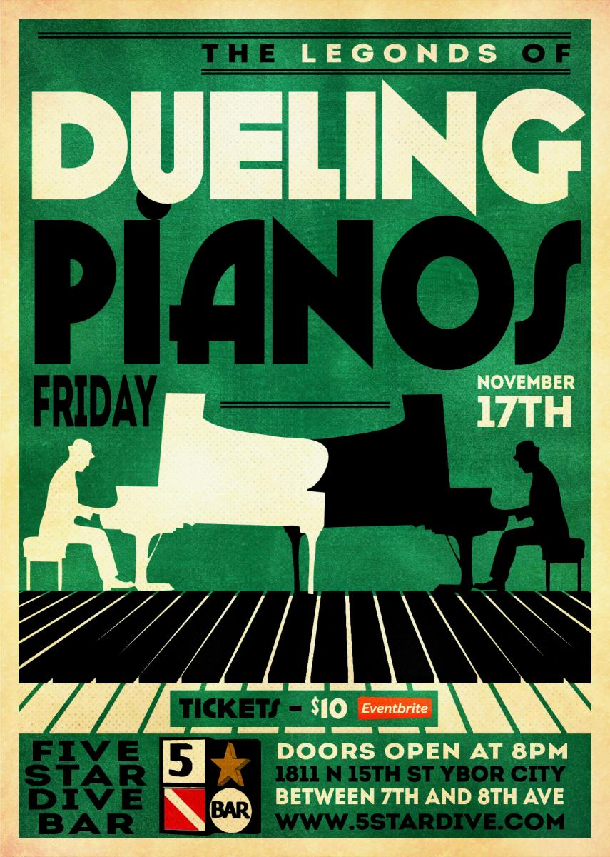 Legends of Dueling Pianos LIVE in Ybor City