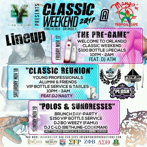 Classic Weekend After Party at Mango's Tropical Cafe