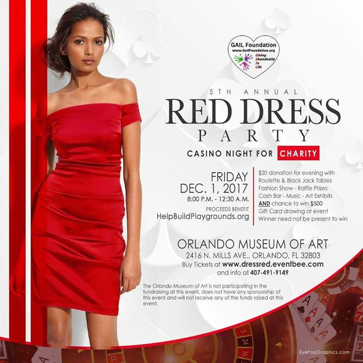 5th Annual Red Dress Party- Casino Night for Charity