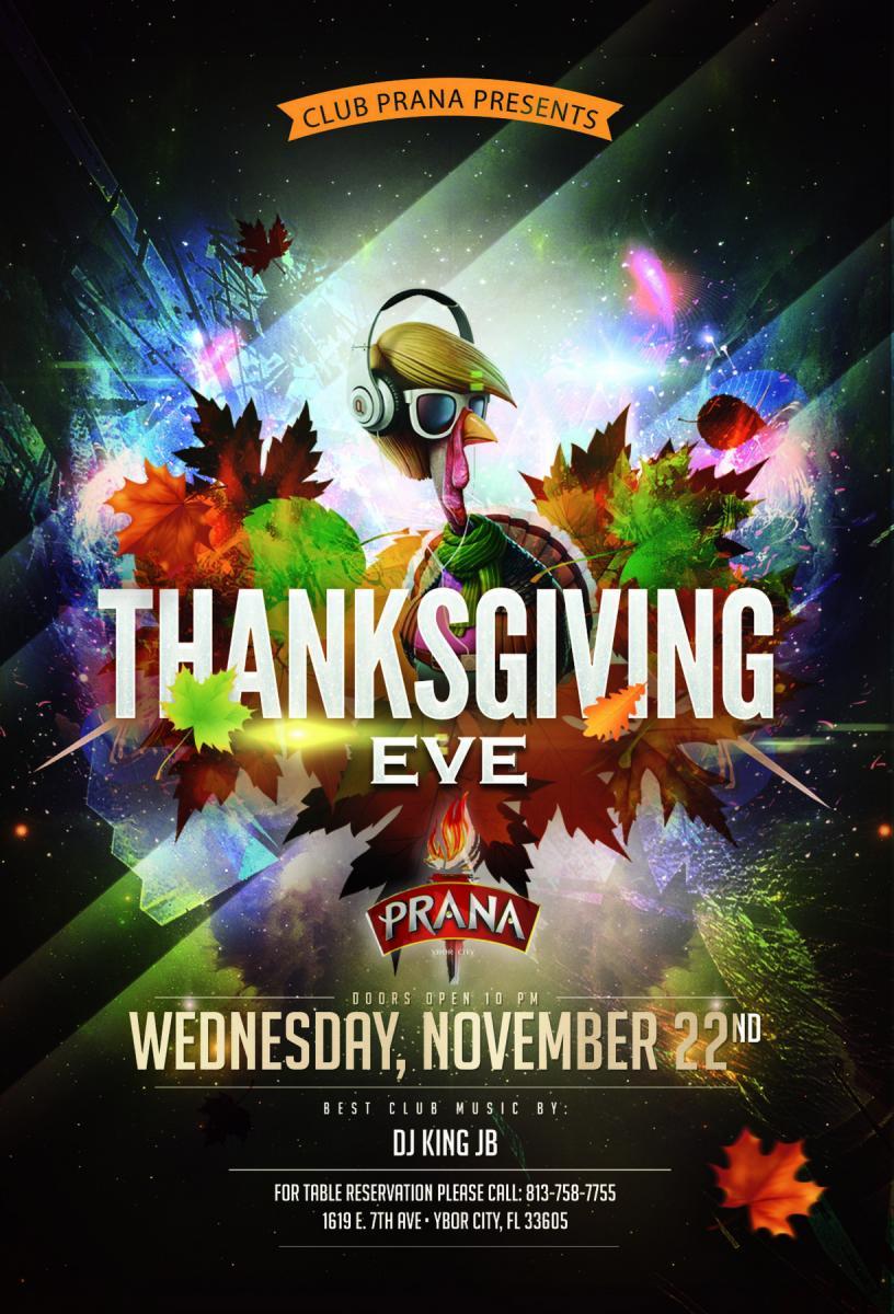 Pre-Thanksgiving Party at Club Prana