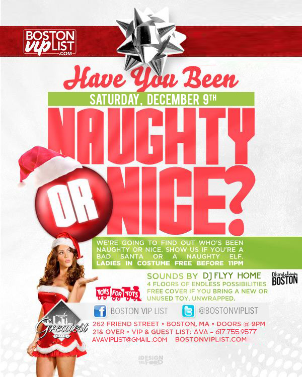 Naughty or Nice @ The Greatest Bar
