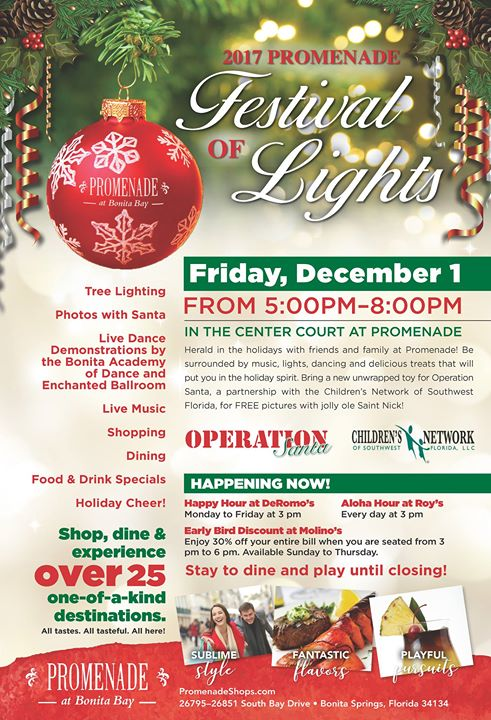 Promenade Festival of Lights/ Tree Lighting & Photos with Santa