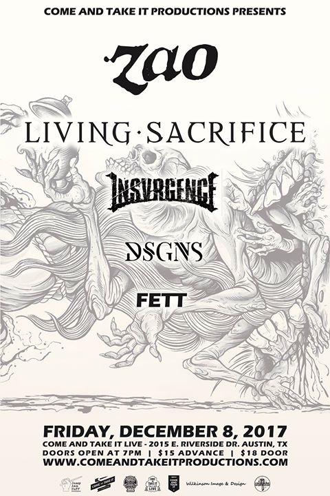 Zao, Living Sacrifice, Insvrgence and more!