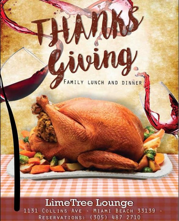 Miami Special Thanksgiving Menu!21.95$
