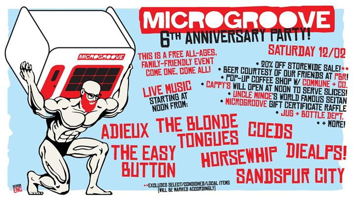 Microgroove's 6th Anniversary Celebration! - Sat. 12/02