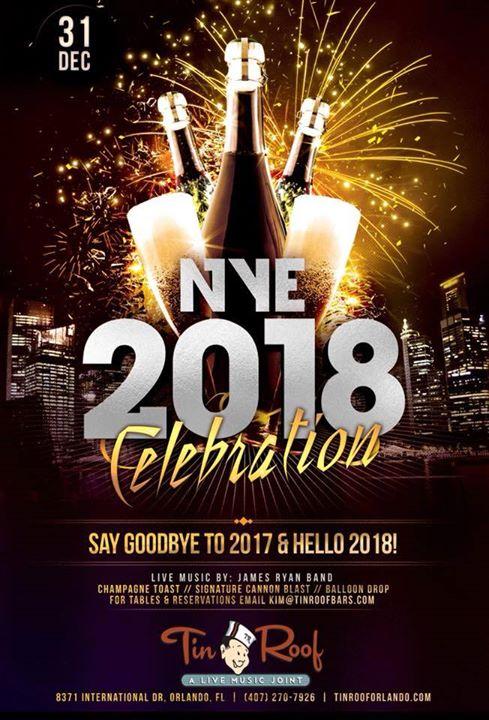 James Ryan Band New Years Eve Orlando 2018 Orlando Fl