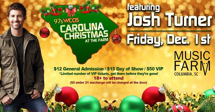 carolina christmas at the farm w   josh turner at music farm columbia  columbia sc