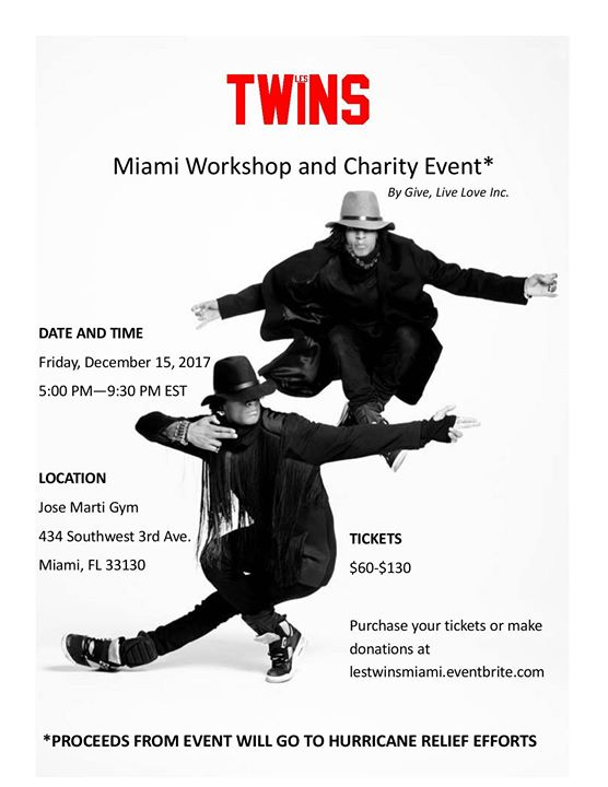 Les Twins Miami // Workshop & Charity Event
