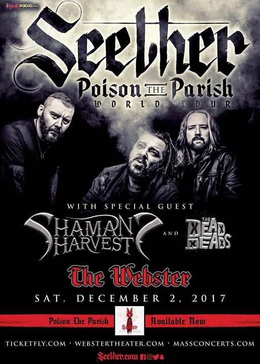Poison The Parish World Tour - Seether - The Webster