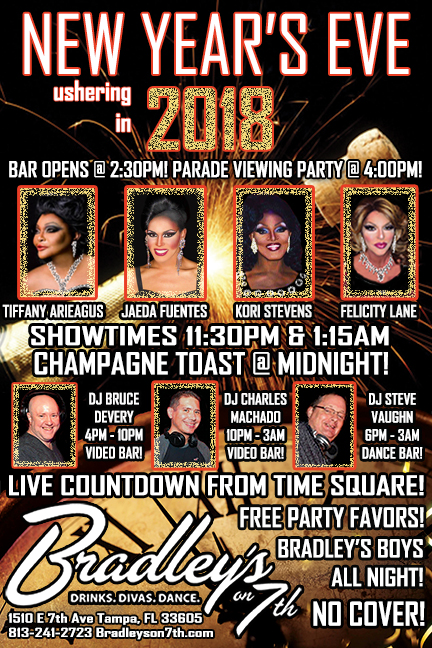 New Year's Eve Ushering in 2018 @ Bradley's on 7th!