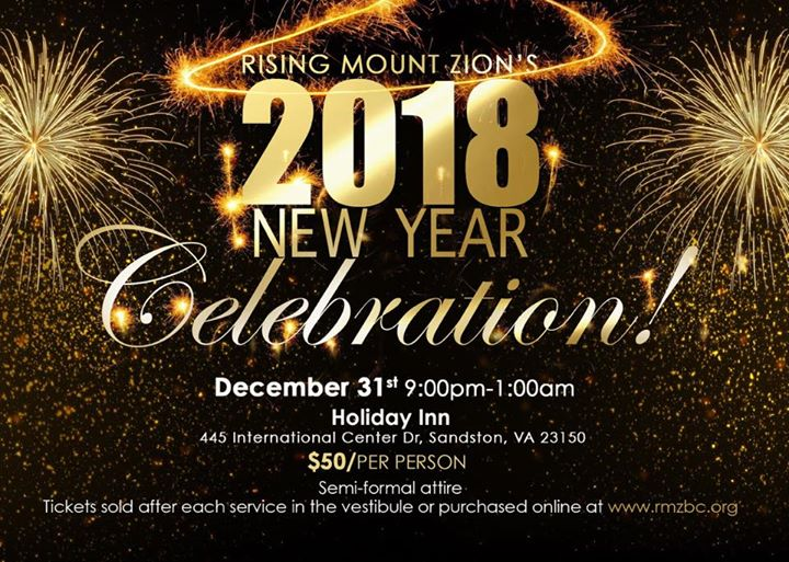 New Year Celebration, Richmond VA - Dec 31, 2017 - 9:00 PM