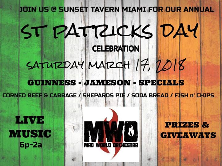 St. Patrick's Day Celebration at The Sunset Tavern