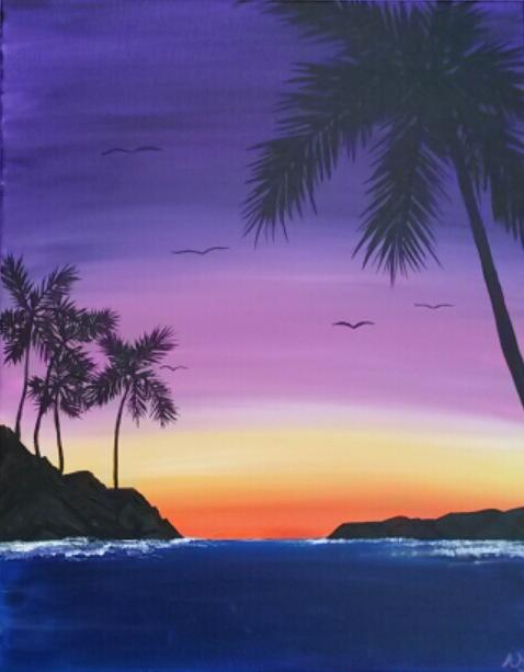 Wine & Canvas Painting Class: Sunrise