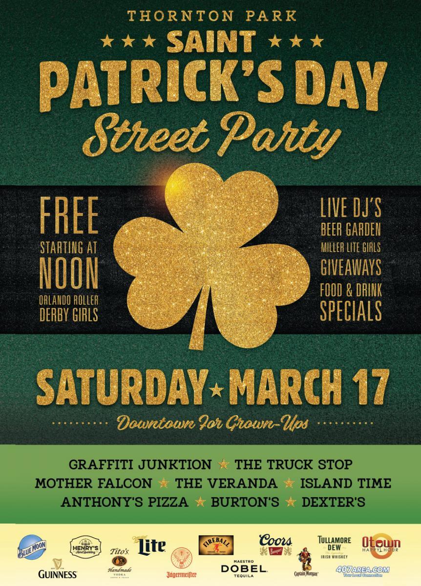 St Patricks Day Street Party in Thornton Park