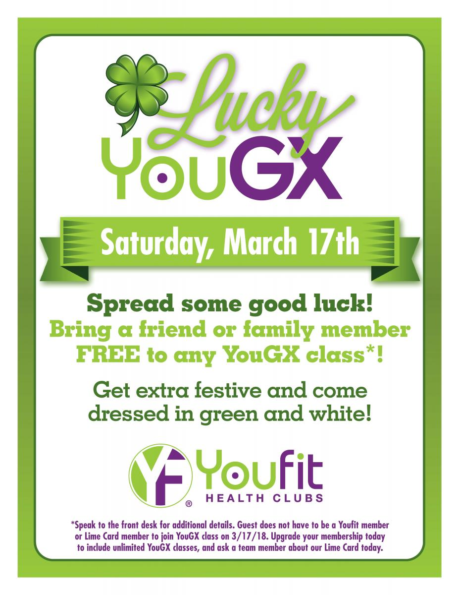 Lucky YouGX at Youfit Health Clubs