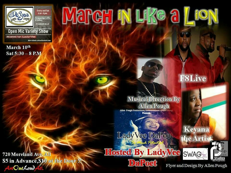 Do You Lyric Lounge: March in like a Lion Edition