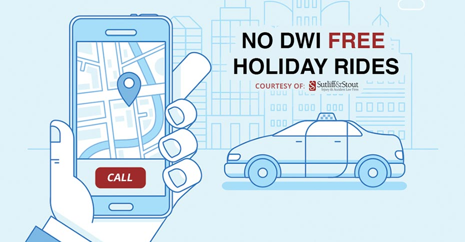 No DWI Free Holiday Rides - St. Patrick's Day 2018