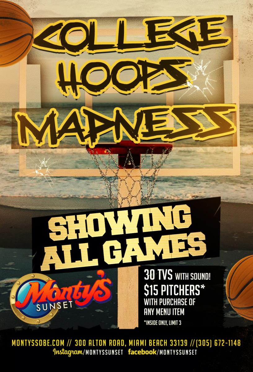 College Hoops Madness at Monty's Sunset