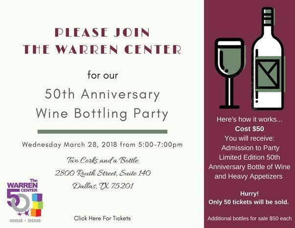 The Warren Center 50th Anniversary Wine Bottling Event