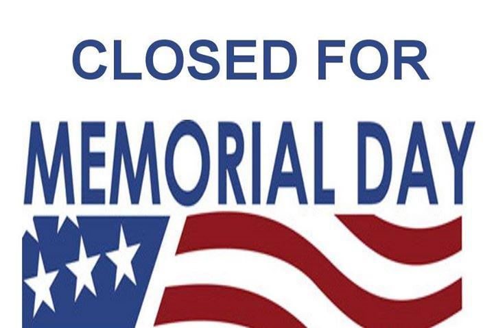 Memorial Day Studio Closed Treasure Coast Fl May 28