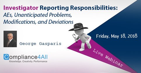 Investigator Reporting Responsibilities - OHRP