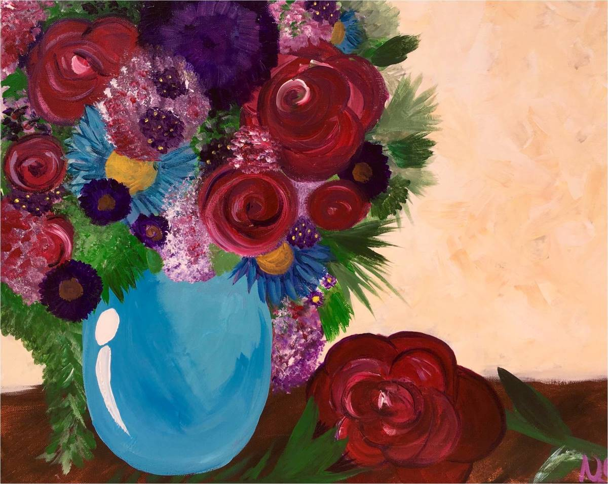 Wine & Canvas Painting Class: Flowers
