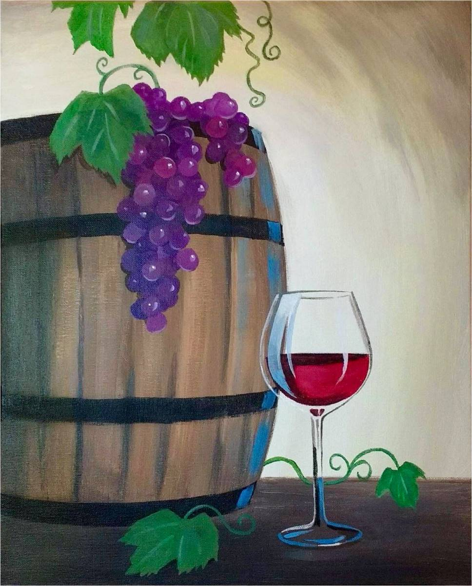 Wine & Canvas Painting Class: Barrel of Laughs