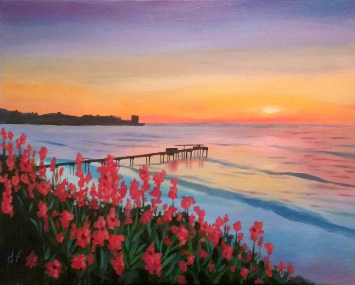 Wine & Canvas Painting Class: La Jolla Sunset