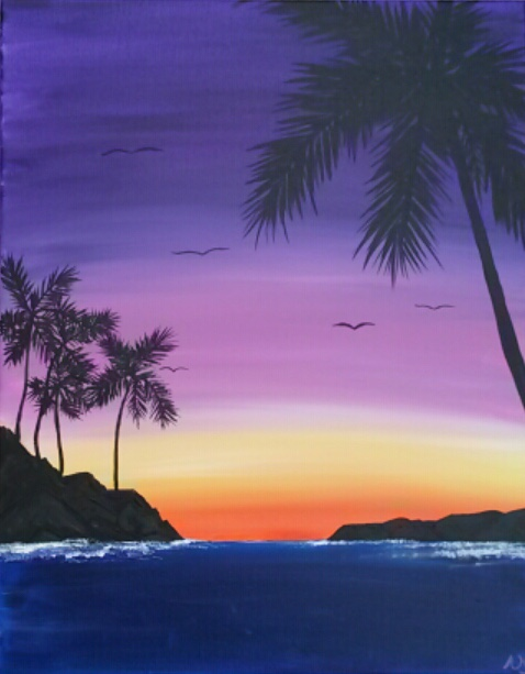 Wine & Canvas Painting Class: Sunrise