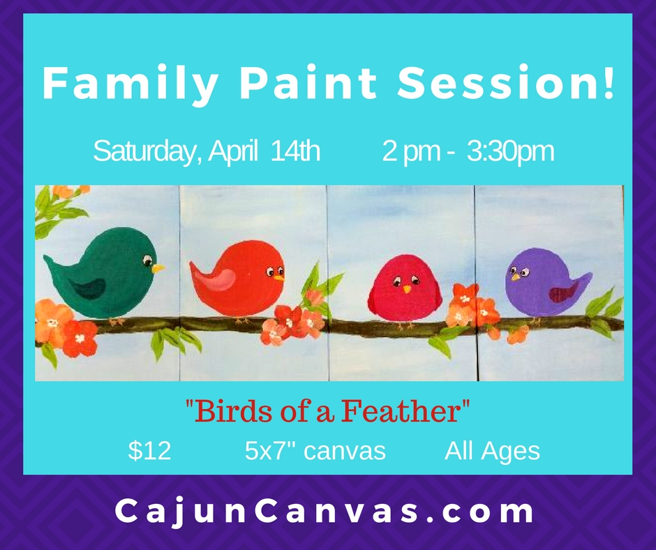 """Family Paint Session – """"Birds of a Feather"""""""