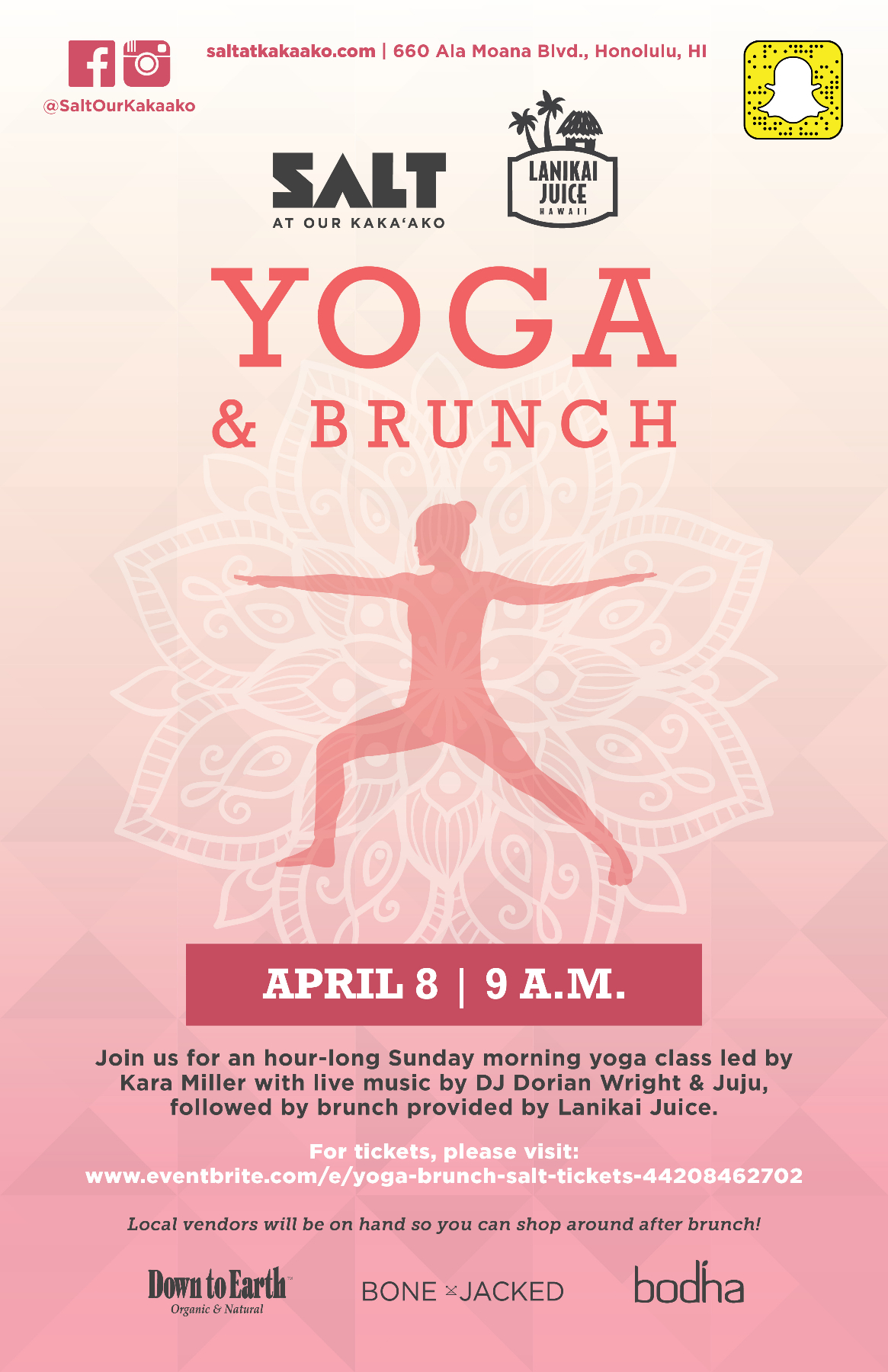 YOGA & BRUNCH AT SALT AT OUR KAKAʻAKO