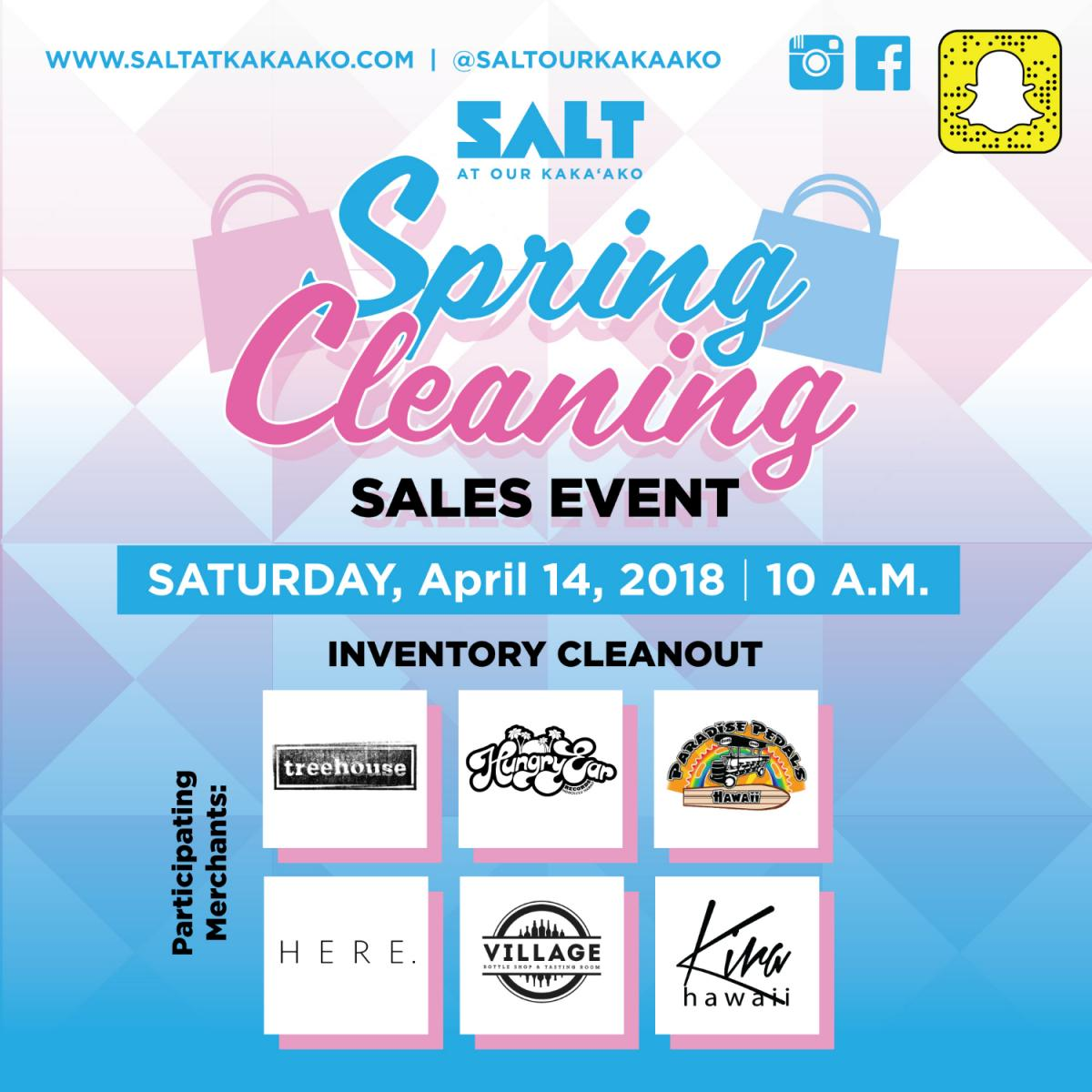 DISCOVER DEALS AT SALT SPRING CLEANING, APRIL 14