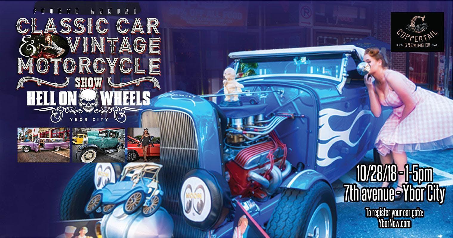 Th Annual FantasmaFest Hell On Wheels Classic Car Show Tampa FL - Show wheels on your car