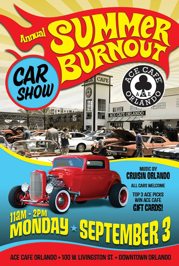 Annual Summer Burnout Car Show At Ace Cafe Orlando FL Sep - Ace cafe orlando car show