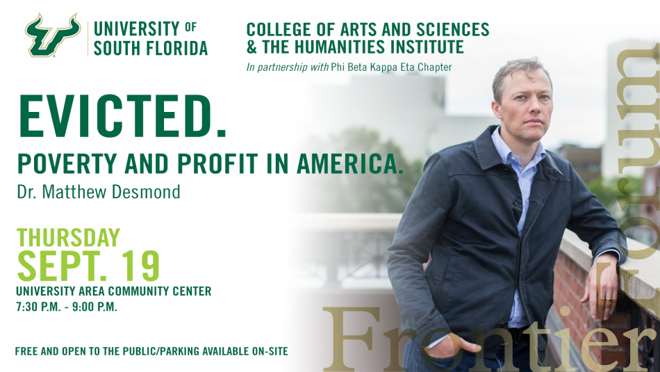 Frontier Forum Presents Dr. Matthew Desmond