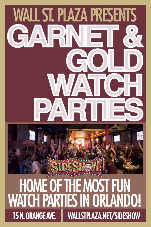 Garnet & Gold Watch Party on Wall St