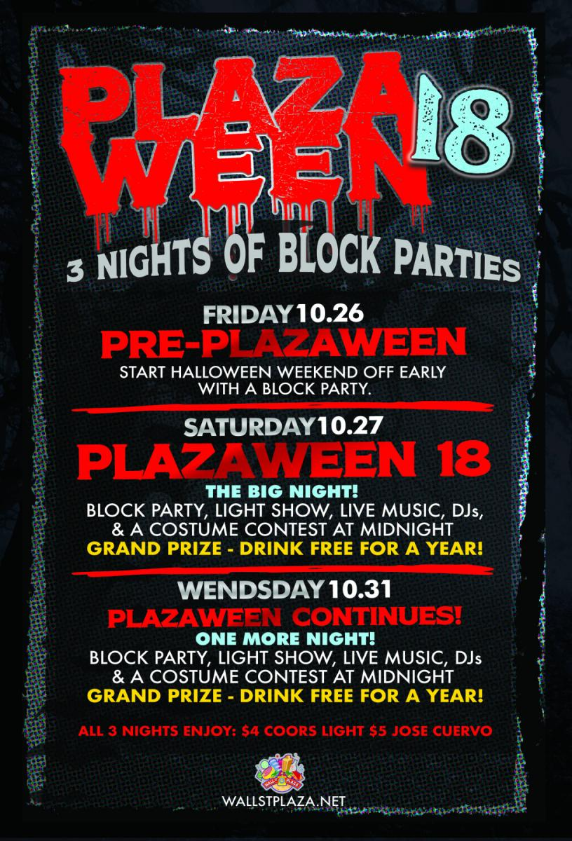 Plazaween 2018 on Halloween Night