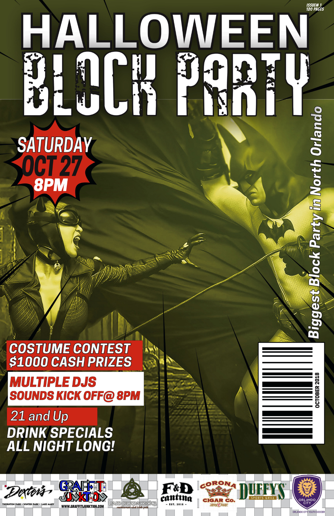 10th Anniversary Halloween Block Party at Liam Fitzpatrick's