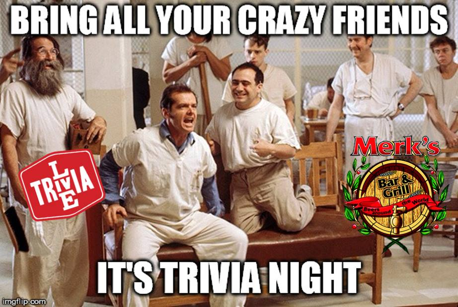 Live Trivia at Merk's Bar and Grill, Daytona Beach FL - Oct 10, 2018