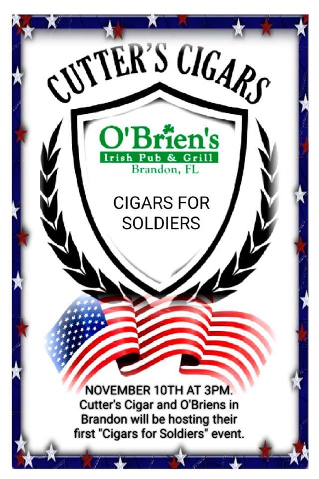 Cigars for Soldiers at O'Brien's Irish Pub & Grill Brandon