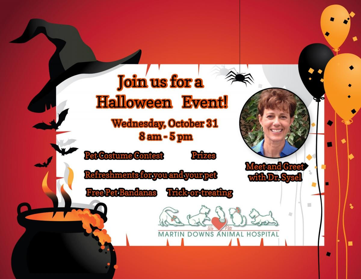 martin downs animal hospital is hosting a halloween event and